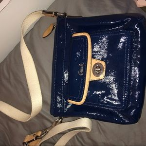 Coach Bags - Blue cross body coach purse